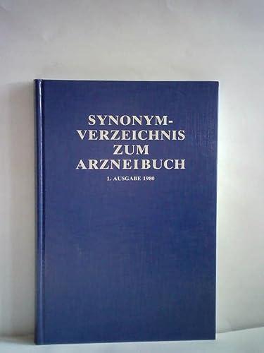 Synonym-Verzeinis zum Arzneibuch. 1. und 2. Ausgabe. 2 Bände. Amtliche Ausgabe,