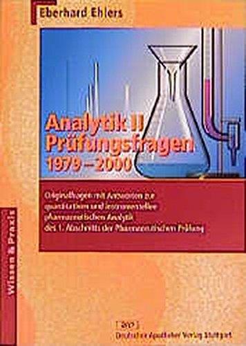 9783769228632: Analytik, Bd.2, Pr�fungsfragen 1979-2000