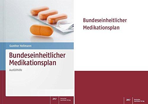 9783769265149: Medikationsplan Set: Bundeseinheitlicher Medikationsplan (Block mit 50 Blatt) und Hellmann, Medikationsplan - Ausfüllhilfe