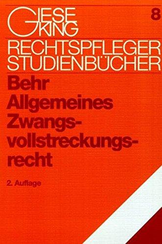 9783769405118: Allgemeines Zwangsvollstreckungsrecht.