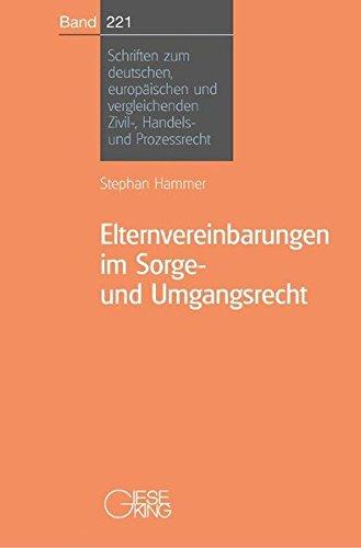 Elternvereinbarungen im Sorge-und Umgangsrecht: Stephan Hammer