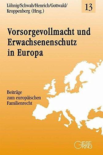 9783769410891: Vorsorgevollmacht und Erwachsenenschutz in Europa