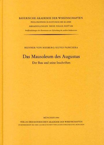 9783769601039: Das Mausoleum des Augustus: Der Bau und seine Inschriften