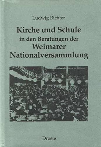 Kirche und Schule in den Beratungen der Weimarer Nationalversammlung: Ludwig Richter