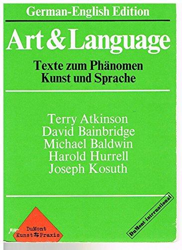 9783770106578: Art & Language. Texte zum Phänomen Kunst und Sprache. (German-English Edition)
