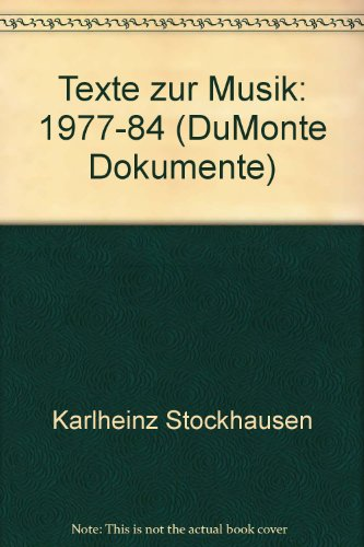 9783770122493: Texte zur Musik 1977-1984, Bd 5 u. 6