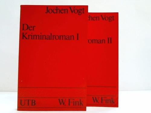 9783770506286: Der Kriminalroman I. Zur Theorie und Geschichte einer Gattung