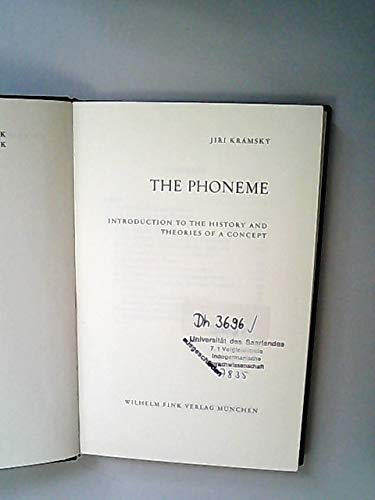 9783770509447: The Phoneme