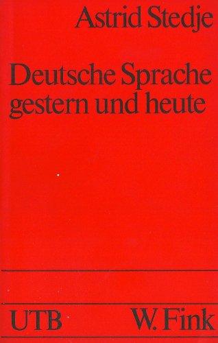 9783770525140: Deutsche Strache Gestern Und Heute