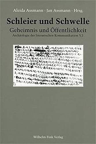 9783770530960: Schleier und Schwelle (Archaologie der literarischen Kommunikation) (German Edition)