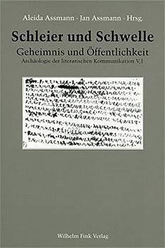 Schleier und Schwelle 1: Aleida Assmann