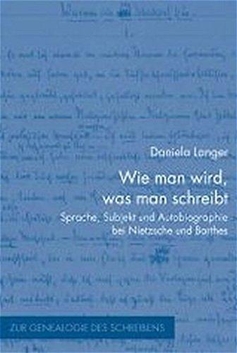 Wie man wird, was man schreibt: Daniela Langer