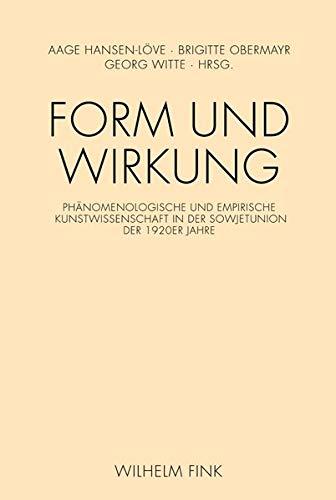 Form und Wirkung: Aage A. Hansen-Löve
