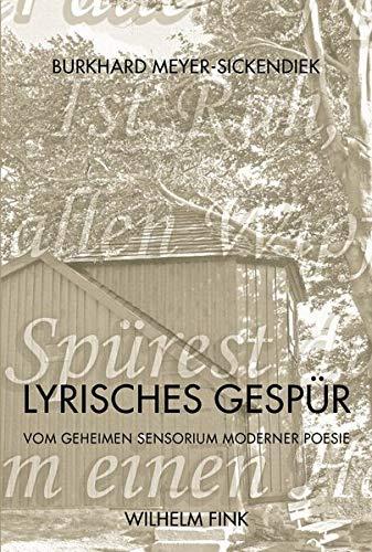 Lyrisches Gespür: Burkhard Meyer-Sickendiek