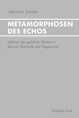 Metamorphosen des Echos: Sebastian Schulze