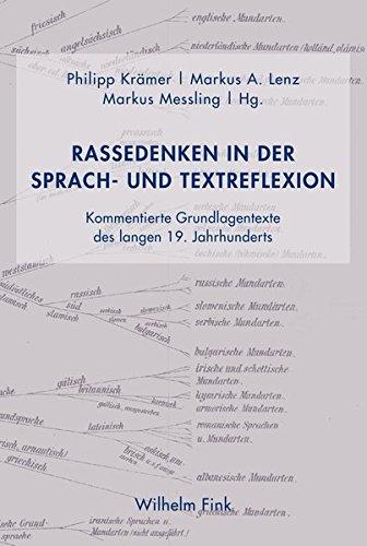 9783770558766: Rassedenken in der Sprach- und Textreflexion: Kommentierte Grundlagentexte des langen 19. Jahrhunderts