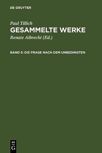 9783771501952: Die Frage nach dem Unbedingten (German Edition)