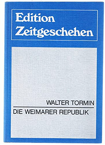 9783771620929: Die Weimarer Republik