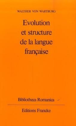 9783772000133: Evolution et structure de la langue francaise
