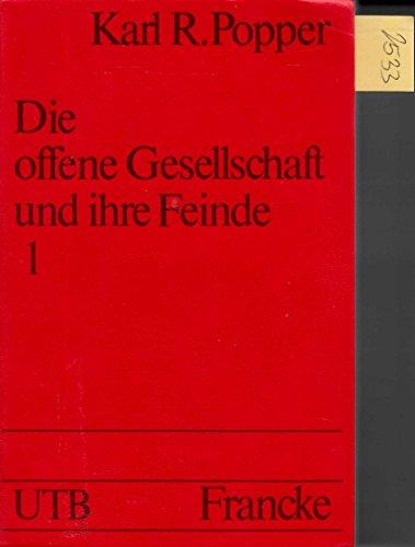 9783772012747: Die offene Gesellschaft und ihre Feinde. 1: Der Zauber Platons. ( = UTB, 472) .