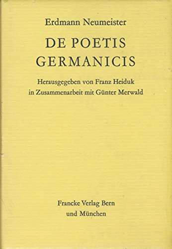 9783772013249: De poetis germanicis (Deutsche Barock-Literatur) (German Edition)