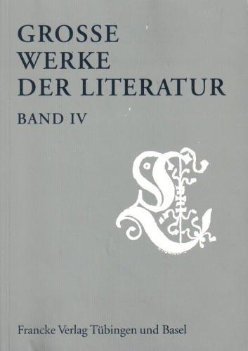 9783772025044: Grosse Werke der Literatur: Große Werke der Literatur, Bd.4, 1994/1995: IV