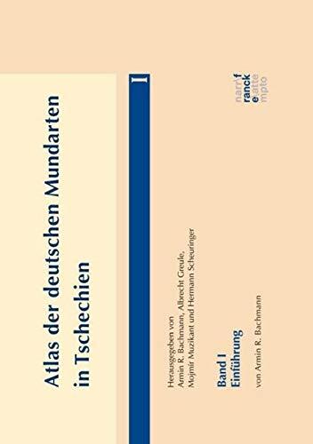 9783772085017: Atlas der deutschen Mundarten in Tschechien 01: Einführung