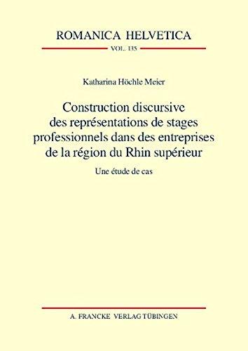 Construction discursive des représentations de stages professionnels dans des entreprises de...