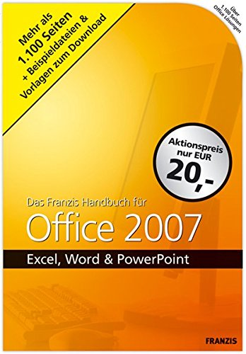 9783772373282: Handbuch f�r Office 2007: Excel, Word & Powerpoint