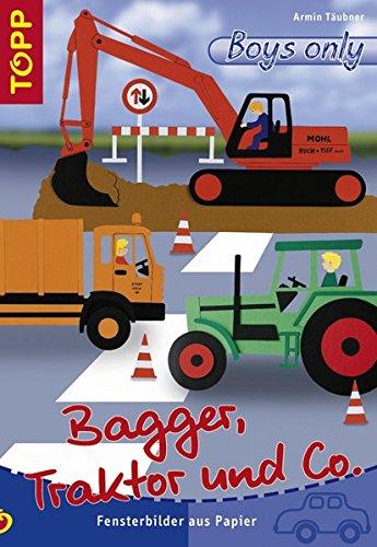 9783772435614: Bagger, Traktor und co: Fensterbilder aus Papier
