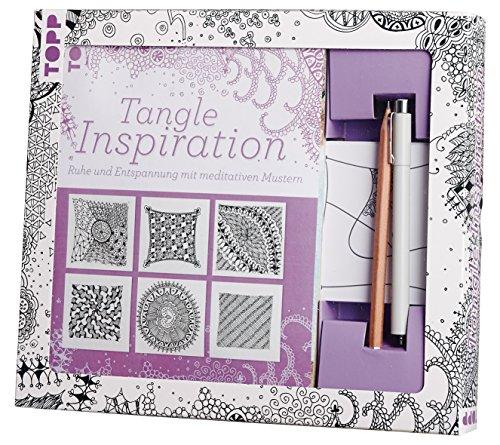 9783772441707: Kreativ-Set Tangle Inspiration: Buch mit Grundanleitung und Motivanleitungen und 50 Kärtchen (15 angetangelt/ 35 leer), Fineliner und Bleistift (Buch plus Material)