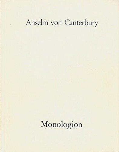 9783772800092: Monologion (German Edition)