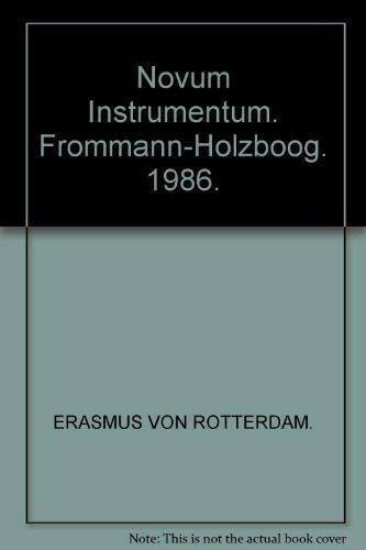 9783772806094: Novum Instrumentum