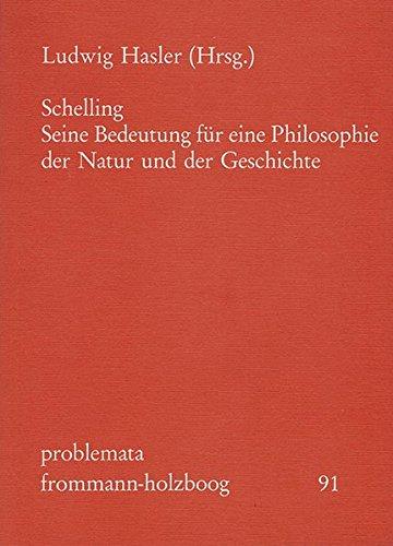 Schelling: Seine Bedeutung für eine Philosophie der: Frommann-Holzboog Verlag e.K.