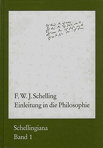 Einleitung in die Philosophie (Schellingiana): F W J