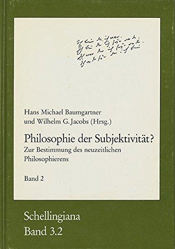 Philosophie der Subjektivität? Teil2: Zur Bestimmung des: Frommann-Holzboog Verlag e.K.