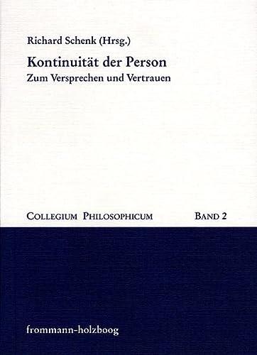 Kontinuität der Person: Richard Schenk