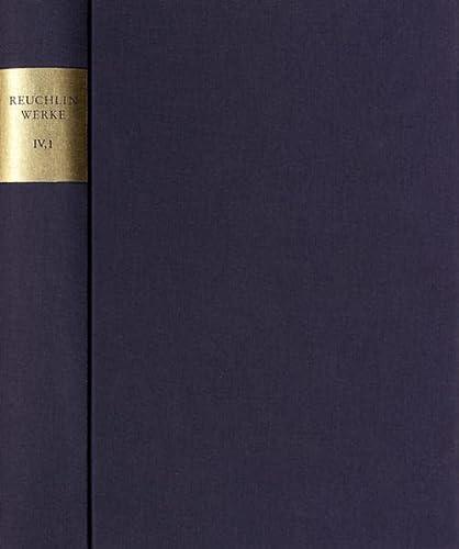 9783772817779: Johannes Reuchlin: S�mtliche Werke. Kritische Ausgabe mit Kommentar / Schriften zum B�cherstreit