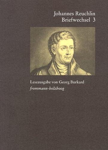 9783772820175: Johannes Reuchlin: Briefwechsel - Leseausgabe; 1514-1517 (German Edition)