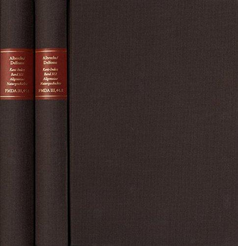 9783772823824: Forschungen Und Materialien Zur Deutschen Aufklarung / Abteilung III: Indices. Kant-index. Section 3: Index Zum Corpus Der Vorkritischen Schriften. ... Materialien Zur Deutschen Aufklarung III: In)