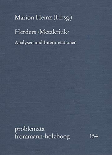 Herders >Metakritik<: Marion Heinz