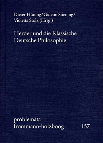 Herder und die Klassische Deutsche Philosophie