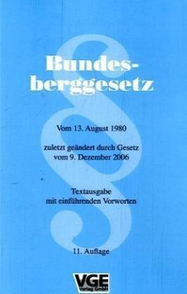 9783773912480: Bundesberggesetz (BBergG)