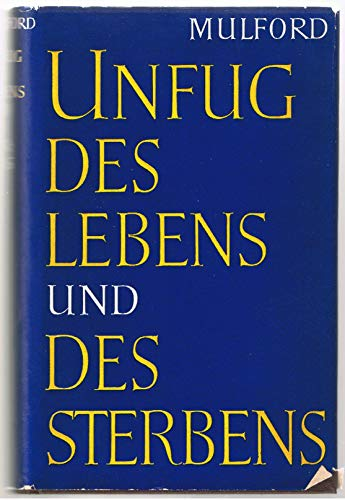 9783774062474: Unfug des Lebens und des Sterbens.
