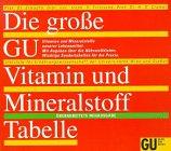 9783774214712: Die grosse GU Vitamin- und Mineralstoff-Tabelle. Vitamine und Mineralstoffe unserer Lebensmittel. Mit Angaben über die Nährstoffdichte. Wichtige Sondertabelle für die Praxis