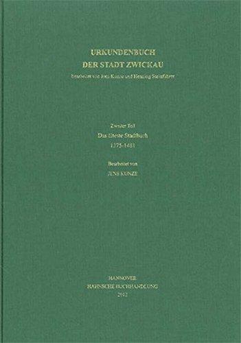 9783775219068: Codex diplomaticus Saxoniae Urkundenbuch der Stadt Zwickau. Bd.2