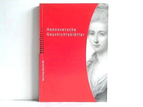 9783775259576: Hannoversche Geschichtsblätter
