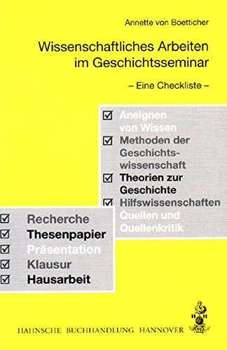 9783775261258: Wissenschaftliches Arbeiten im Geschichtsseminar: Eine Checkliste