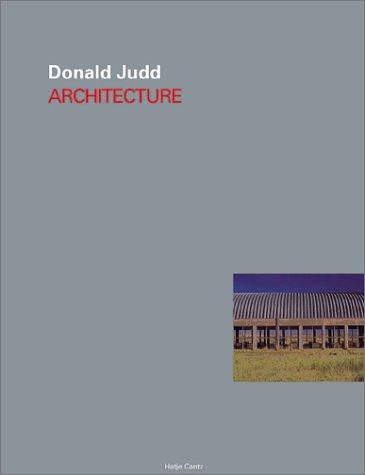9783775711326: Donald Judd: Architecture