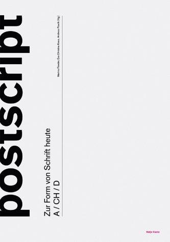 9783775714150: Postscript. Zur Form von Schrift Heute